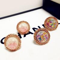 Free Shipping Accessories bohemia gravel stud earring beautiful elegant female earring