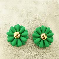 Free Shipping Sweet neon color fashion young girl salaryman light mature woman sweet earrings earring