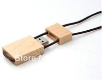 Free Shipping Hang Rope Style Wooden USB Flash Disk Drive 1GB 2GB 4GB 8GB 16GB 32GB