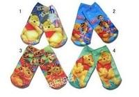 SPECIAL OFFER ! ! ! Free shipping Hot sale socks kids socks baby socks bear cartoon design 15CM 4 colours selection