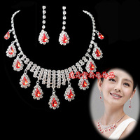 The bride necklace red necklace wedding jewellery wedding dress accessories bridal earrings accessories chain sets
