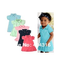 2014 summer girls polo dresses girls tennis dress,children brand dresses 100% cotton wholesale,5pcs/lot free shipping