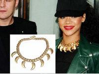 Fashion Gold Claw Chunky Chain Necklace RihannaCelebrity Jewelry Wholesale