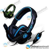 SA-708 Headphone Gaming Headset Stereo Headphone Powerful Bass Earphone with Microphone