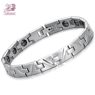 Hematite radiation-resistant titanium bracelet male bracelet health care magnetic fashion men hand ring 8377 fashion accessories(China (Mainland))