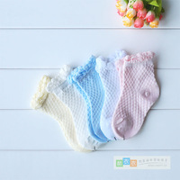 Summer cotton 100% laciness baby mesh socks boneless baby child socks thin socks free air mail