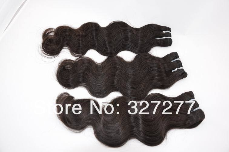 "Body Wave Virgin Indian Hair 3pcs/lot Mix Lengths 16"" 18"" 20"" Queen Hair Product,Remy Wavy Human Hair Extension Free Shipping(China (Mainland))"