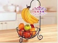 Iron shelf fruit bowl hanging basket fruit rack multifunctional shelf rack floor