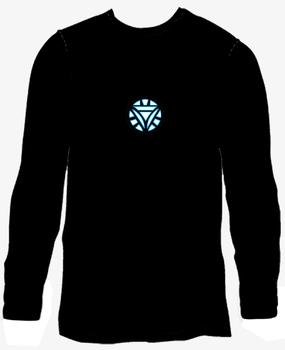 Iron man2 2 luminous t-shirt long-sleeve ef231