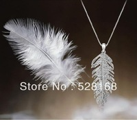free shipping 2013 fashion Crystal silver plated necklace with Czech rhinestone love-leaf  chocker Wholesale jewelry 2COLORS