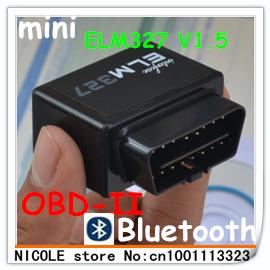 2013 Latest Version V1.5 Car Diagnostic Scanner-ELM327 OBDII OBD2 OBD 2 OBD-II Bluetooth for Android Torque