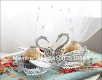 European romantic swan candy box candy box wedding candy box creative personality creative wedding candy box THJ70