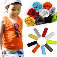 Child vest chromophous male female child solid color sleeveless T-shirt vest 7c-2 candy vest