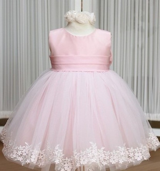Fashion Sleeveless High-grade Noble Flower Girl Dresses Girls Ball Gown Tulle Lace Princess Dress Formal Dress 5Sizes 5Pcs/Lot