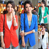 New  hot women's office or shopping stylish suit, elegant female cotton casual outwear, lady's slim coat