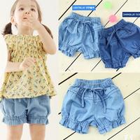 2013 children's clothing child trousers summer female child denim shorts 0c-1 denim shorts