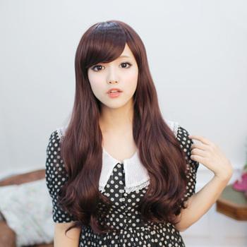 Wig the girls long roll bulkness matt high temperature wire long curly hair fashion women's wig