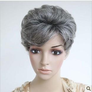 The elderly wig women's short hair wig short hair wig