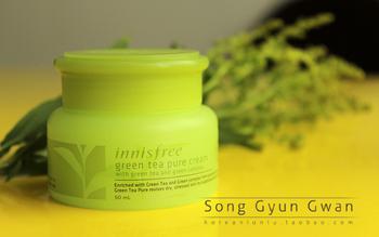 Cattle innisfree green tea moisturizing cream fresh edition