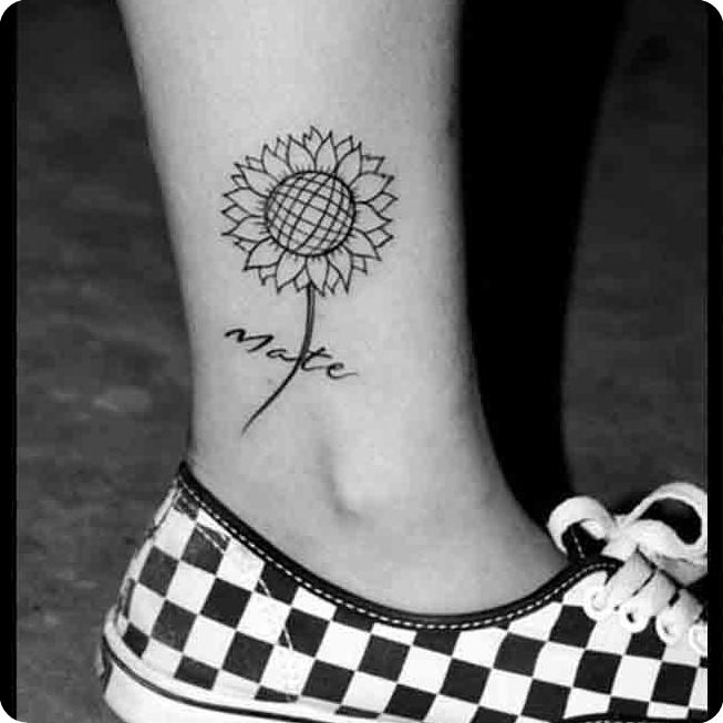tribal stickers polynesian tattoo stickers leg tattoo sunflower HARAJUKU tattoo stickers stickers
