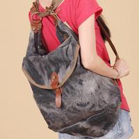 Denim bag 219 large capacity one shoulder cross-body double-shoulder women's handbag bag