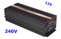 Pure Sine Wave Inverter 5000W 12VDC 240VAC solar wind car battery power   free shipping