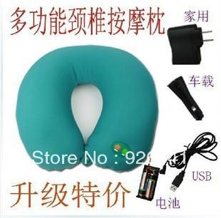 Cervical massagem travesseiro massageador elétrico U pescoço massageador(China (Mainland))