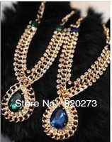 Free shiping New Arrival  Fashion jewelry  water drop rhinestone necklace  Hot sale