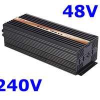 Pure Sine Wave Inverter 6000W 48VDC 240VAC solar wind car battery power   free shipping