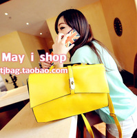 hot sell Lock ladies vintage lock bag handbag all-match 2way women's handbag bag  free shipping