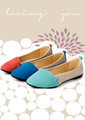 The spring and autumn period and the new lady flat shallow single color matching shoes for women's shoes  3 Color