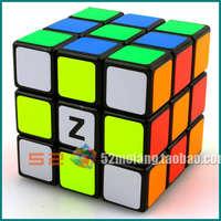 Z-cube 3x3x3  magic cube  super-elevation quiet  black white free shipping Z -stickers