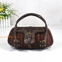 Vivi rattan bags straw bag liz lisa water hyacinth, portable women's handbag