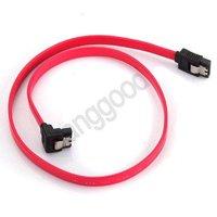 2X Serial SATA ATA RAID DATA HDD Hard Drive Signal Cable Straight - Right Angle,Free Drop Shipping