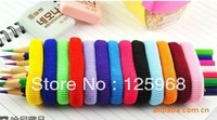 Free shipping 96pcs Colorful mixed towel soft elastic Ponytail Holders Scrunchies Rainbow colorful Hair rope Hair Accessories