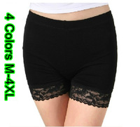 M-4XL Discounted Women Plus Size Strapless Modal Lace Seamless Bra Chest Wrap Summer Safety Bottoming Shorts Underwears