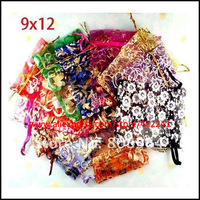 Fashion Exquisite Jewelry Silk Bag Pouches, 9cm*12cm, Fit for Jewelry Earring,Necklace & Bracelet, x200pcs Free Shipping