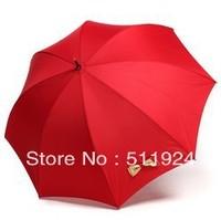 Bridal umbrella plain handmade bow exquisite long-handled umbrella red princess umbrella