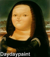 Hand Painted Oil Painting on Canvas Fernando Botero Mona Lisa FREE SHIPPING