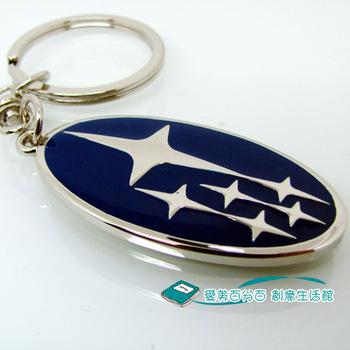 free shipping 10pcs Subaru car keychain car all types of vehicle SUBARU key ring women's male