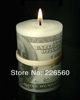 Free Shipping 1Piece Dollar Candle / Money To Burn / Flameless Money Candle