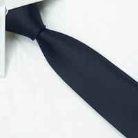 Brand New wedding groom Solid Mens skinny Silk SK18 Tie Navy slim Necktie