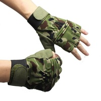 Camouflage breatheable nylon fabric anti-skidding Glove For Tactical Combat Hunting Bicycle Moto Cycling Hiking Camping Gloves