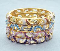 Beauty bracelet fashion vintage crystal accessories cloisonne gift