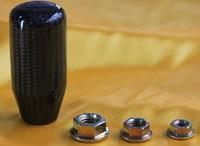 universal car gear shift knob  carbon fiber surface aluminum alloy body straight shape