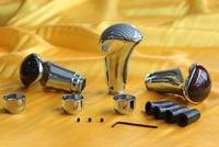 universal car gear shift knob  carbon fiber surface aluminum alloy body R shape
