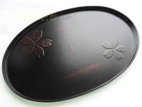 Free shipping 2013 new style black oval mini tea tray fashion rustic teaboard elegance  lovely saucer