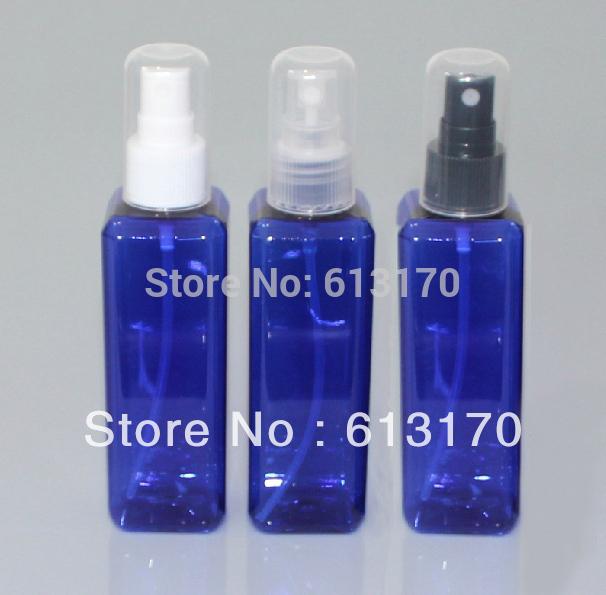 100ml blue refillable plastic bottle women men mist sprayer bottle perfume sprayer full cover bottle Free