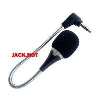 Black 3.5mm Jack Flexible Microphone Mic For Laptop PC Laptop Netbook