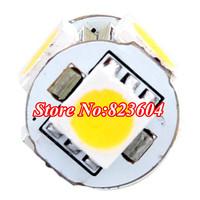 Energy Saving 100 Pcs DC 12V Car G4 Base White 5050 SMD 5-LED Bulb Light Lamp